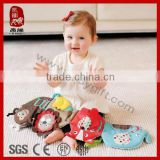 ICTI SEDEX Colorful plush toy multi-functional soft baby book toy