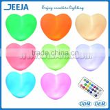 Remote Controlled PE Material Waterproof Floating Heart Shape Led Light For Home Decoration