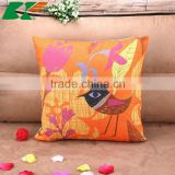 2015 animation cartoon small bird hold pillow creative home Soft cloth art Cotton and linen cushion cover