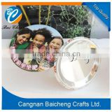 tourism travelling promotional gifts company logo tin button badge with people photo full color printed for you diy