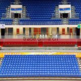 sport facility retractable platform ribune telescopic folding plastic seating flex grandstand. portable bleacher