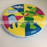 cartoon plastic foldable frisbee,safety inflatable frisbee for kids