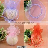 Wholesale DIY 40cm IN Stock Unique Merry Christmas Beautiful Gifts Promotional Best Selling Gift Apple Organza Round Pouch Bags                                                                         Quality Choice