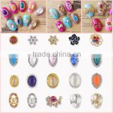 2016 Fashion Diamond nail art /DIY Glitters Slices of metal nail art/ Design 3D Silver Pearl Rhinestone nail sticker
