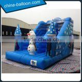 Blue color frozen inflatable slide / snow world inflatable bouncer slide                                                                                                         Supplier's Choice
