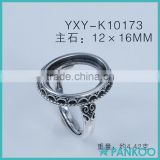 Finger ring base finding for diy jewelry wholesale cheap 925 sterling silver rings fashionable ring findings