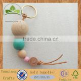 wooden beads key chain bag chain for decoration