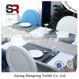 2015 professional design fabric painting designs on table cloth, wedding table cloth from china factory