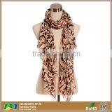 Women Spring Fashion Sexy Brown Soft Twill Leopard Print Scarves Wholesale