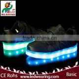genuine leather sneakers led shoes for women/men roller skate shoes