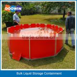 Open Top Storage Portable PVC Water Tank / Frame Type Water Bladder