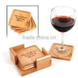 New fashion wooden beer coaster wholesale