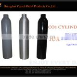 HPA Aluminum Alloy Soda Stream Style 0.6L Co2 Gas Cylinder With Valve Equipped For Soda Machine