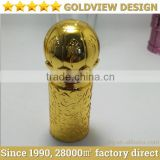 Gold plated aluminium cap for perfume bottle/perfume bottles with crown cap/wooden perfume bottle caps