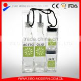 4pcs glass oil and vinegar bottles wholesale with pvc box