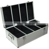 Aluminum 720 CD-R DVD Storage Case w/ Keys Sleeves DJ
