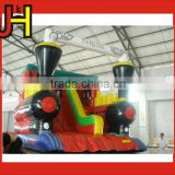 Competitive Price And Best Quality Assurance Indoor Outdoor Inflatable Train Bounce Slide For Sale