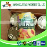 Bulk supply canned yellow peach strips