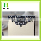 Custom blue flower lace luxury paper cards handmade korean wedding invitation card
