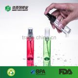 New product pet clear plastic cosmetic spray pump bottle