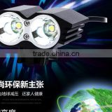 Bicycle lighting L2 lamp headlight dual core T6 bicycle riding bright light lamp headlights owls