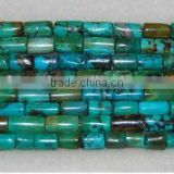 6x8mm column natural turquoise beads