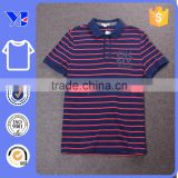 Summer short sleeves stripes yarn-dyed men polo cotton stripes t-shirt