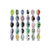 Pandora Murano Glass Bead Charm Wholesale 925 Silver Screw Core for European Jewelry
