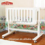 American Styled New born Baby Bed, Solid Wooden Adult Crib, Simple Design 4 In 1 Baby Crib bedding Set
