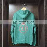 Wholesale High Quality Logo Printing unisex Forest Green zip up sweater