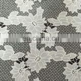 beautiful milky yarn guipure lace fabric for lady's summer garment
