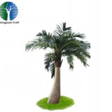 cheapest high simulation artificial coconut tree fiberglass 20meters high for decorations