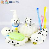 Plastic Bathroom tools spotty dog shape Soap holder bath sponge bath lotion bottle