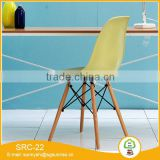 new cheap plastic chair with solid wood legs used home cafe restaurant chair furniture for sale
