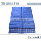 "TOOTS 84"" x 59"" Sleeping Bag, Two-Person Sleeping Bag,Double Wide Sleeping Bag"