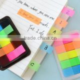 Removable PET sticky notepad Bright color. with box