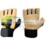 Weight Lifting Gloves White, Blue, Pink, Orange, Green Gym Exercise Fitness Leather Weight Lifting Gloves/Gym Gloves