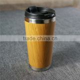 Hot Sale Factory Directly Supply Promotional Food Grade BPA Free Bamboo Outer&Stainless Steel Inner Travel Mug