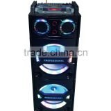 2016 USB LED active trolley outdoor DJ professional subwoofer portable wireless bluetooth speaker