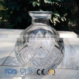 200ml Ball Shape Glass Vase with Pattern