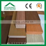 wood plastic composite panel for floor CE,SGS,ani-UV PVC plastic for flooring wood plastic