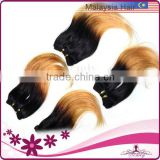 Malaysian Hair Fashion Hairstyle Cheap Wholesale Human Hair Ombre Black Blonde Extension