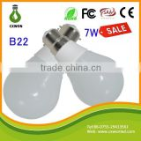 A19 ceramic led bulbs USA famous best selling lamp 7watt ac85-265v b22 bulb holder with e27