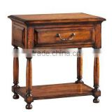 Factory direct sale to the Mediterranean style rural solid wood furniture to wooden nightstand to receive ark store