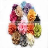 Popular cheap burlap christmas gift flower, fashion doll toy, Kid's Headbands Dress Hats accessories