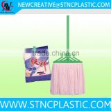 floor sweeper 100% cotton cleaning mops plastic stick
