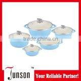 10pcs promotional aluminum multifunction ceramic cookware set/European Style Cooking Pot
