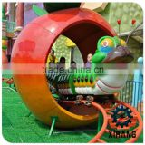 Attractive and Amazing Electrical Kids Mini Roller Coaster Rides Electric Worm Train for Sale