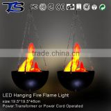 Xmas Decorative Hanging Fire flame light with 12V5W adapter in high quality party Crafts light for halloween