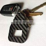 New fashion carbon fiber key chain, carbon fiber key chain with logo and attractive pattern